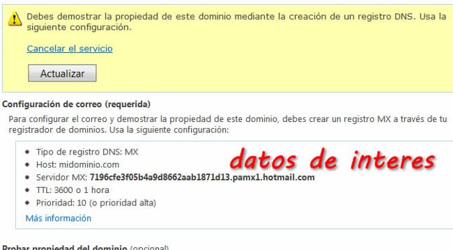 Dominio personalizado outlook.com